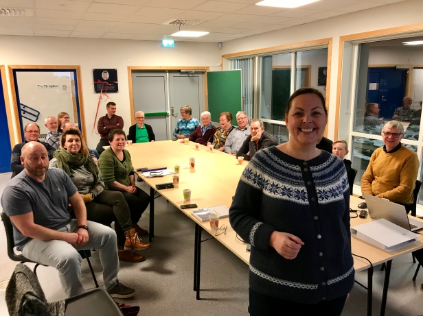 Kari E. Natland frå Regionrådet fortalte om Nordhordland Biosfæreområde, som snart kan få UNESCO-akkreditering