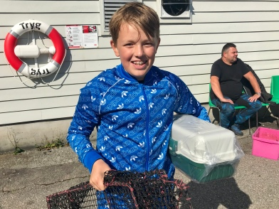 Filip Bø vann premiar for både minste og styggaste fisk!